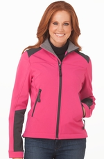 Cripple Creek Womens Neoprene Zip Front Jacket - Princess Pink