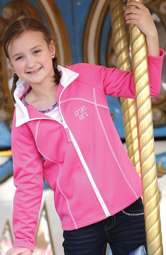 Cruel Girl Girls Zip Fleece Athletic Jacket - Pink (Closeout)
