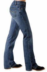 Cruel Girl Jeans - Georgia RELAXED FIT Stretch Jean (Dark Stonewash)