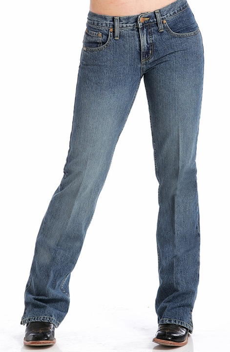 Cruel Girl Jeans - Georgia SLIM FIT Jean (Medium Stonewash / Sandblast)
