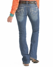Cruel Girl Women's Abby Slim Fit Boot Cut Jeans - Medium Stonewash