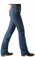 Cruel Girl Women's Relaxed Fit Low Rise Jeans - Dark Stonewash
