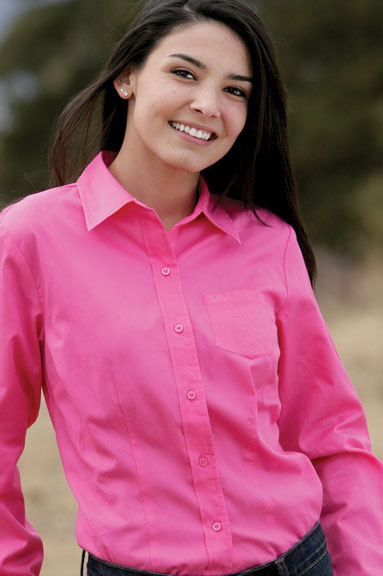 CRUEL GIRL WOMEN S SOLID BUTTON DOWN SHIRT (PINK) on The Hunt 6896b8391