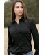 Cruel Girl Women's Solid Western Button Down Shirt - Black