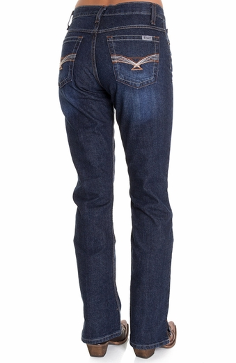 Cruel Girl Womens Relaxed Fit Georgia Jeans - Dark Stonewash (Closeout)