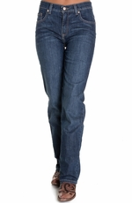 Cruel Girl Womens Relaxed Fit Rachel Jeans - Dark Stonewash (Closeout)