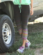Cruel Women's Athletic Tribal Capri Pant - Dip Dye