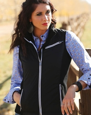 Cruel Women's Hybrid Quilted Vest - Black (Closeout)