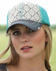 Cruel Women's Lace Trucker Cap - Grey