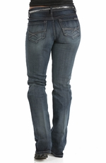 "Cruel Womens ""Abby"" Slim Bootleg Jean - Medium Stonewash"