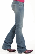 Cruel Womens Erika Slim Bootleg Jean - Light Stonewash (Closeout)