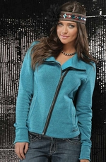 Cruel Womens Fleece Zip Jacket - Blue