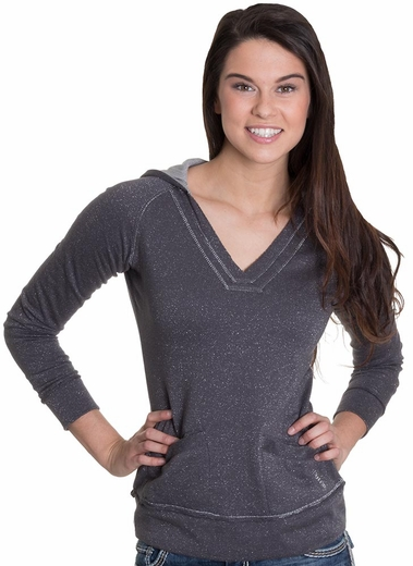 Cruel Womens Sparkle Terry Hoodie - Charcoal