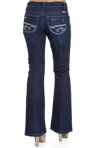 Cruel Womens Piper Slim Fit Boot Cut Jean - Indigo