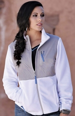 Cruel Womens Polar Fleece Zip Jacket - White (Closeout)