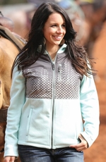 Cruel Womens Polar Fleece Zip Jacket - Aqua