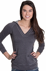 Cruel Womens Sparkle Terry Hoodie - Charcoal (Closeout)