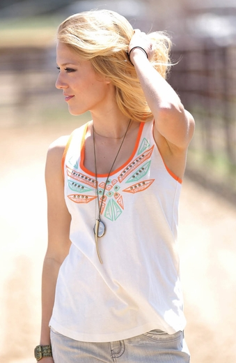 Cruel Womens Winged Tank - Cream