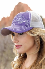 Cruel Womens Trucker Cap - Purple (Closeout)