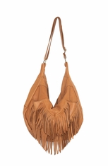 Cut N Paste Women's Dara Fringe Hobo Bag - Vintage Tan