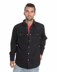 Dakota Grizzly Men's Isaac Flannel Shirt Jacket - Coal