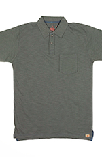 Dakota Grizzly Mens Asher Short Sleeve Solid Polo Shirt - Graphite (Closeout)