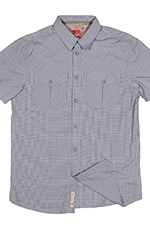 Dakota Grizzly Mens Nate Short Sleeve Check Button Down Shirt - Ink (Closeout)