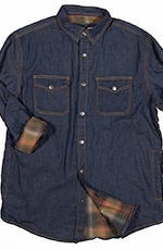Dakota Grizzly Mens Spencer Denim Shirt Jacket - Indigo