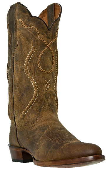 "Dan Post Men's Albany 13"" Cowboy Boots - Tan"