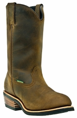 "Dan Post Men's Albuquerque 12"" Waterproof Steel Toe Work Boots - Tan"