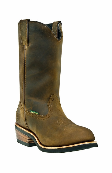 "Dan Post Men's Albuquerque 12"" Waterproof Work Boots - Tan"