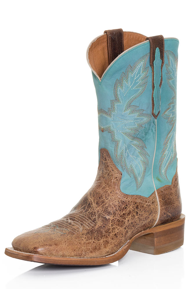 Dan Post Men's Cowboy Boots - Tan/Turquoise (Closeout)