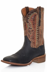 "Dan Post Mens Stockman 11"" Cowboy Boots - Black/Sand (Closeout)"