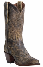 "Dan Post Women's El Paso 11"" Cowboy Boots - Tan (Closeout)"