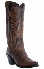 "Dan Post Women's Maria 13"" Cowboy Boots - Bay Dirty Bull (Closeout)"