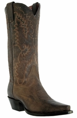 "Dan Post Women's Santa Rosa 12"" Cowboy Boots - Bay Dirty Bull (Closeout)"