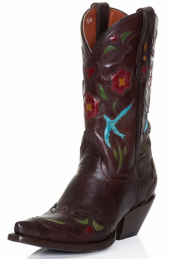 Dan Post Womens Blue Bird Boots - Chocolate (Closeout)