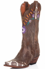Dan Post Womens Miss Adventure Cowboy Boots - Bay Apache (Closeout)