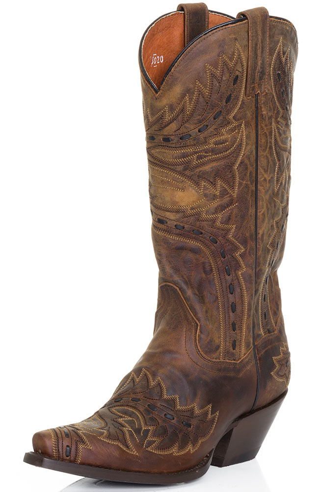 Dan Post Womens Sidewinder Cowboy Boots - Tan Mad Cat (Closeout)