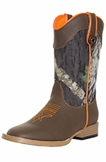 DBL Barrel Boy's Buckshot Mossy Oak® Camo Boots - Kid Sizes (10.5-3)
