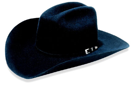 """Denton"" 3X Black Felt Cowboy Hat by Master Hatters"