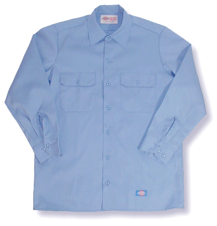 Dickies Long Sleeve Work Shirt (Black, Blue, Khaki, Navy)