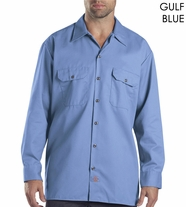 Dickies Long Sleeve Work Shirt - Gulf Blue