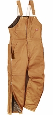 Dickies Men's Premium Insulated Bib Overalls - Brown Duck