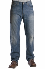 Dickies Men's Regular Straight Fit 5-Pocket Jeans - Hand Sanded Indigo Blue