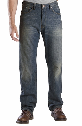 Dickies Men's Regular Straight Fit 5-Pocket Jeans - Hand Sanded Indigo Blue (Closeout)