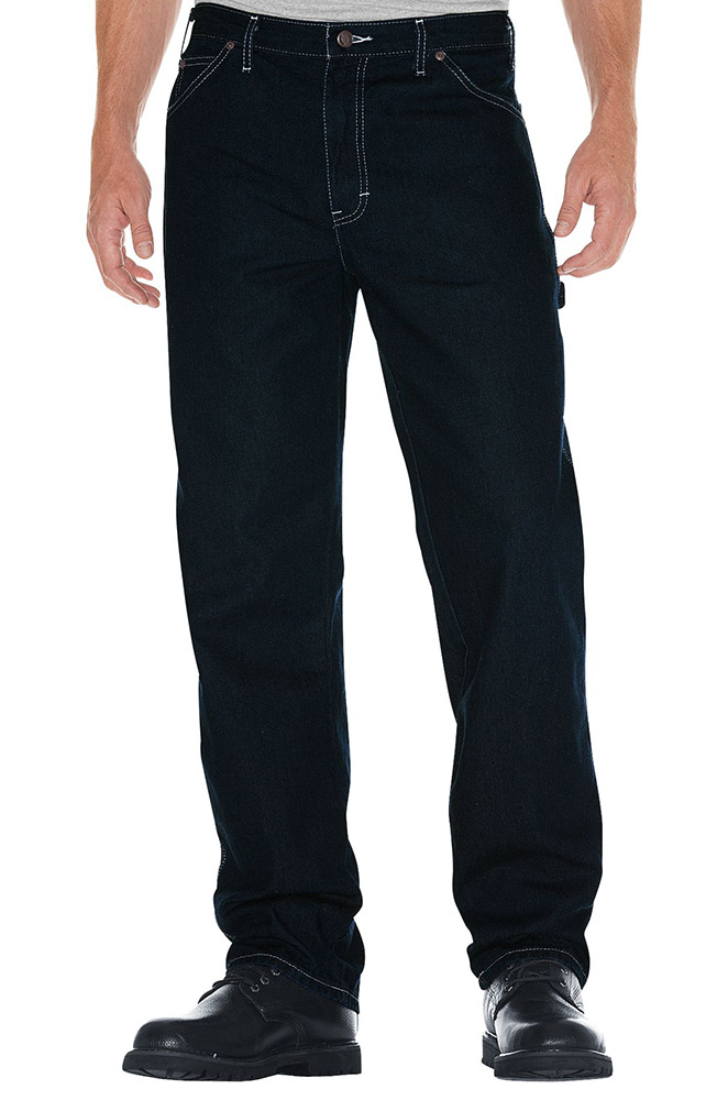Dickies Men's Relaxed Fit Carpenter Jeans - Indigo Blue
