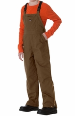 Dickies Sanded Duck Kids Bib Overall - Brown Duck