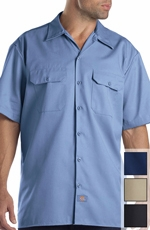 Dickies Short Sleeve Work Shirt - Gulf Blue, Navy, Khaki or Black