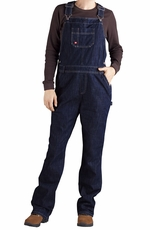 Dickies Women's Relaxed Straight Bib Overall - Dark Indigo Black